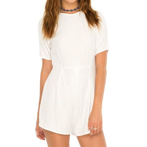 Viena Playsuit vienna playsuit in white motel rocks pickture