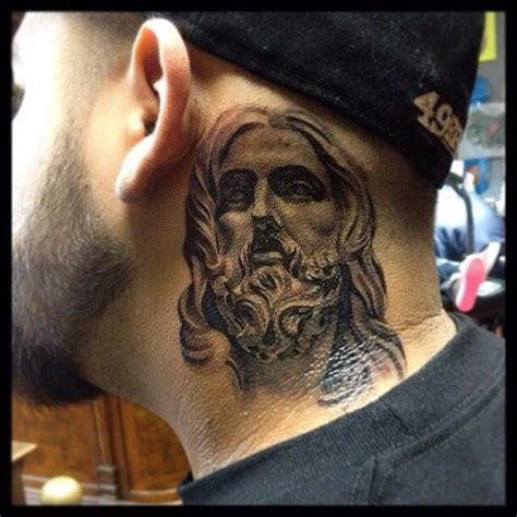 religious tattoo on neck image gallery jesus neck tattoos