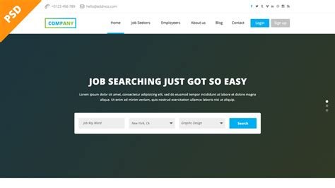 free design job boards uk job board website psd template