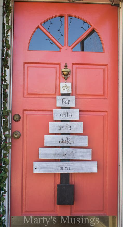 Front Door Ideas christmas tree luminaries