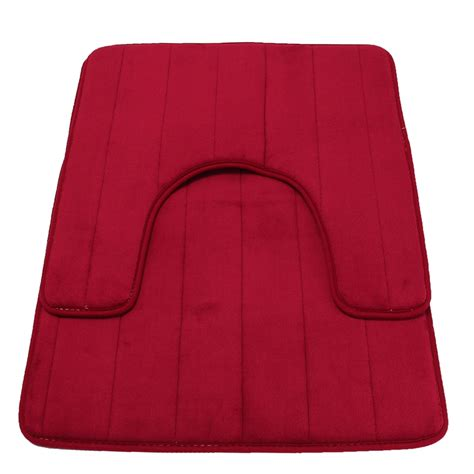 Coral Color Bathroom Rugs 1set Shower Pad Mat Mat Rug Coral Velvet Soft Carpet Bathroom Toilet Toilet Bath Washable