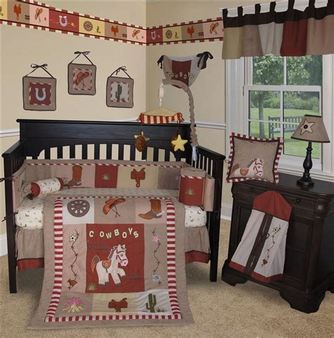 baby boutique western cow boy 13 pcs crib bedding set
