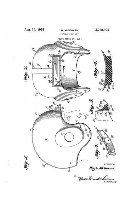 Helmet Design Patents | patent us2758304 football helmet google patentsuche