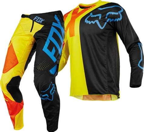 motocross gear fox 2018 fox 360 preme motocross gear black yellow 1stmx co uk