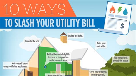 10 Ways To Your by Infographic 10 Ways To Slash Your Utility Bill Sheryl