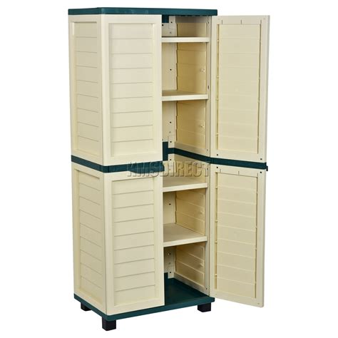 starplast outdoor plastic garden utility cabinet with 4