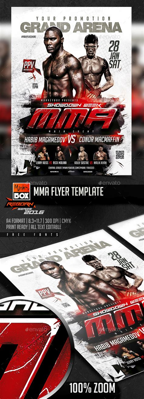 Mma Flyer Template By Monkeybox Graphicriver Mma Flyer Template