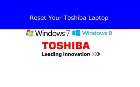 reset  toshiba laptop   factory settings
