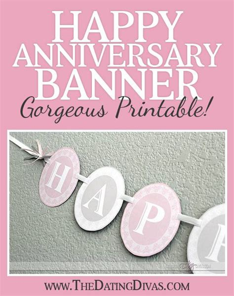 printable happy anniversary banner happy anniversary banner
