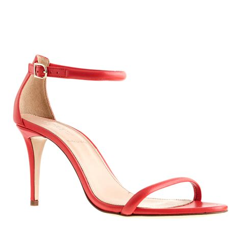 high strappy heels j crew strappy high heel sandals in brilliant
