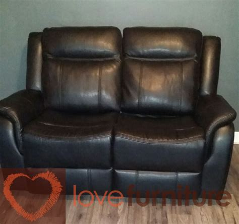 black 2 seater recliner sofa ohio leather 2 seater recliner sofa 2rr black