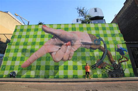 Huge Wall Mural street artist martin ron interview and wall with street