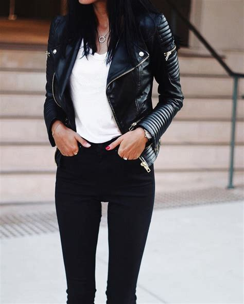 S W A T Black Leather Black White best 25 black leather jackets ideas on womens