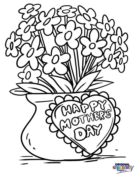 mothers day coloring mothers day flowers coloring page coloring pages