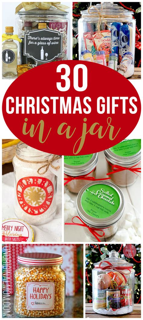 30 christmas gifts in a jar unoriginal mom