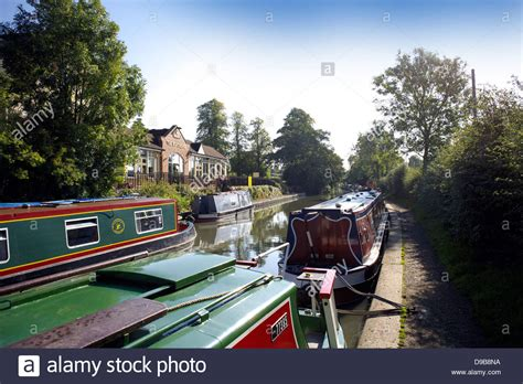 the boat house pub the boat house pub public house braunston turn junction between grand stock photo