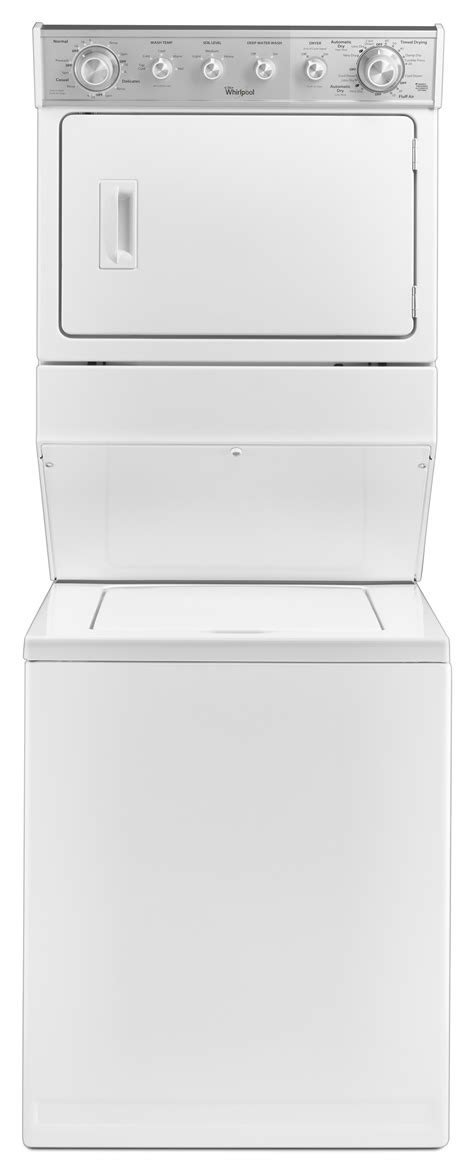 stackable washer and dryer dimensions learning from stackabl whirlpool wgt4027ew 27 quot size gas stacked laundry unit white