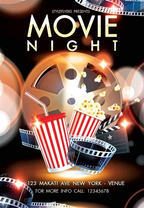 Movie Night Flyer Psd Free Fhcaca Work Flyer Free Free Psd Flyer Templates Psd Flyer Templates Free Pong Flyer Template