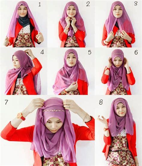 Kreasi Cara Berjilbab Segi Empat cara memakai jilbab segi empat kreasi remaja modis