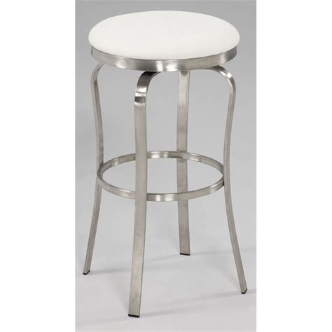 brushed stainless bar stools chintaly bar stool in brushed stainless steel and white