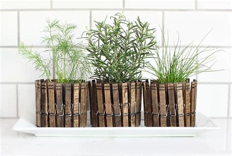 diy self watering herb garden diy herb garden planters using clothespins