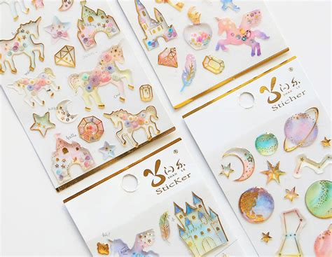 Washi Paper Motif Unicorn sweet unicorn stickers kawaii pen shop