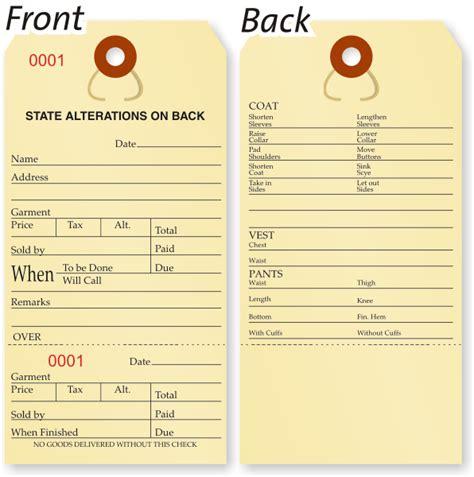 printable repair tags retail repair tags in stock custom tag alteration tags