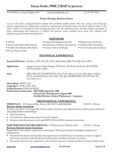resume of pmp certified project manager 28 images