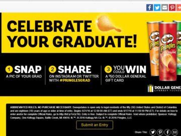 Dollar General Sweepstakes - the dollar general pringles grad sweepstakes