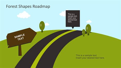 powerpoint templates free download forest free forest shapes roadmap powerpoint template slidemodel