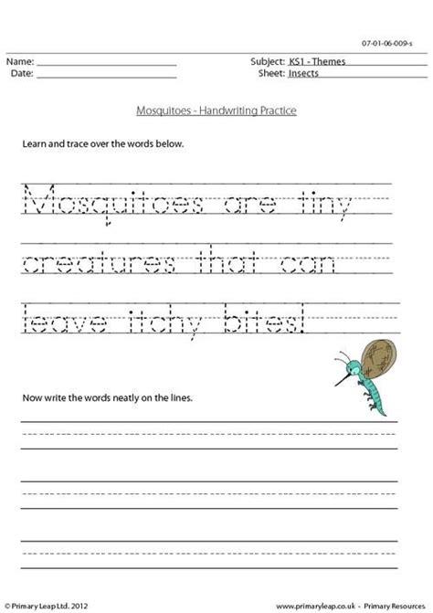 printable writing worksheets ks1 handwriting practice worksheet for ks1 pupils trace over