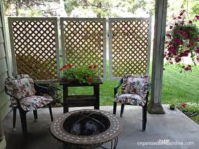 how to make an easy patio privacy screen step by step tutorial organizedchaosonline