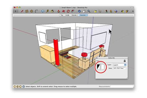 sketchup layout walls getting a better view of small interior spaces sketchup blog