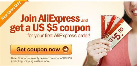 join aliexpress and get a us 5 coupon free