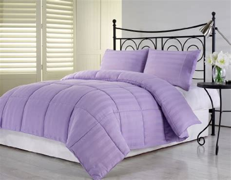 light purple comforter set chezmoi collection 3 light purple hotel dobby stripe