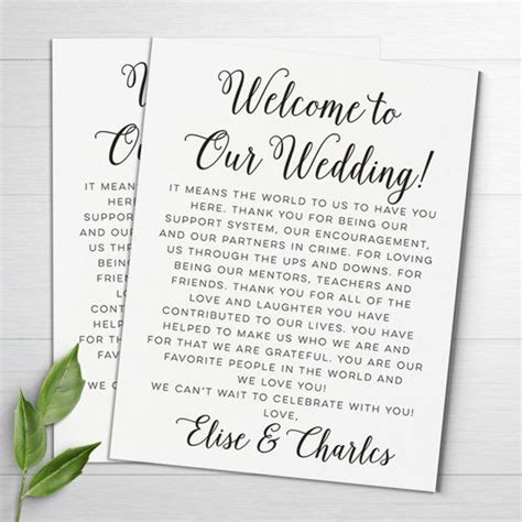 17 best ideas about wedding welcome letters on pinterest