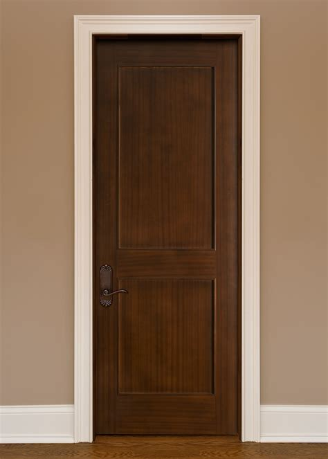 Interior Door Custom Single Solid Wood With Walnut Solid Wooden Interior Doors