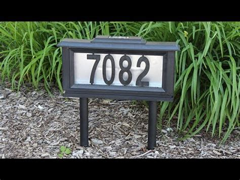 Address Plaques That Light Up - solar lighted address plaques for house shelly lighting