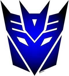 transformers decepticon logo blue by zimmo81 on deviantart
