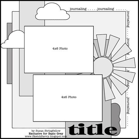 basic scrapbook sketch 6 4 12 basicgrey blog