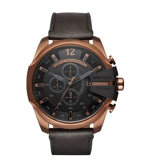 Diesel Move Black Rosegold diesel mega chief gold tone and black leather chronograph dillards