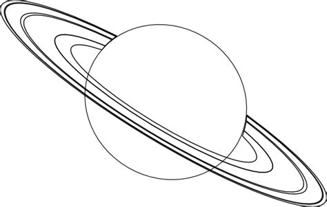 Saturn Outline Clip Art At Clker Com Vector Clip Art Saturn Coloring Pages