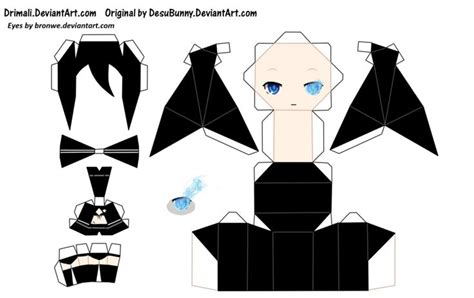 Anime Paper Craft - anime papercraft templates papercraft anime vocaloids