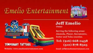 bounce house business cards templates bounce house business cards image collections business