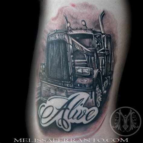 truck driver tattoos tattoos by ferranto tattoos realistic semi