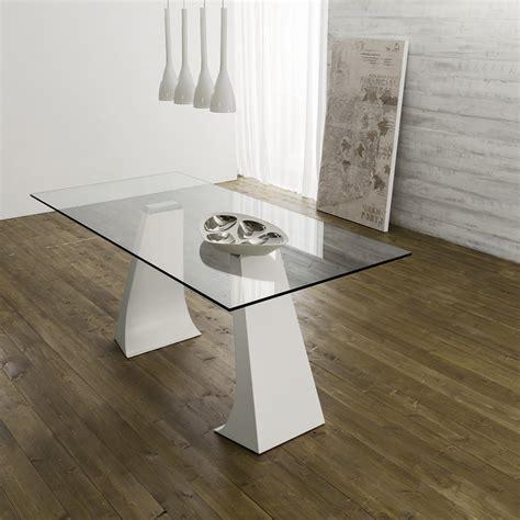 tavoli da pranzo design tavolo da pranzo di design piano in vetro gambe in