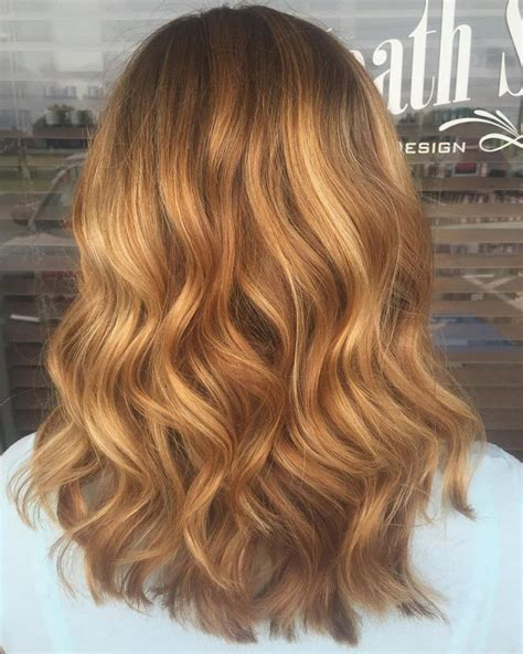 Strawberry Balayage On Brown Hair Www Pixshark Images Galleries With A Bite Wavy Strawberry Hair With Some Balayage Highlights Hair Done By Hardy