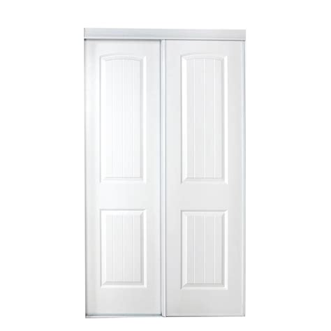 Home Depot White Interior Doors Truporte 48 In X 80 In 230 Series White Mirror Interior Sliding Door 341400 The Home Depot