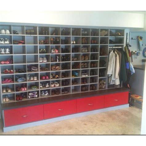 Garage Cabinets For Shoes Garage Shoe Storage Who Wants Shoes Inside