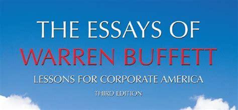 Pdf Essays Warren Buffett Lessons Corporate by Warren Buffett Essays